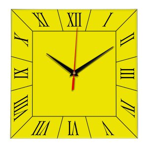 Настенные часы Ideal 847 желтые