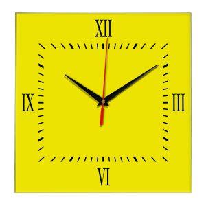 Настенные часы Ideal 848 желтые