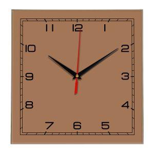 Настенные часы Ideal 850 коричневый светлый