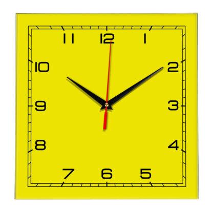 Настенные часы Ideal 850 желтые