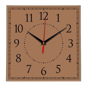 Настенные часы Ideal 851 коричневый светлый