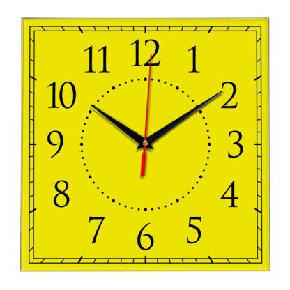 Настенные часы Ideal 851 желтые