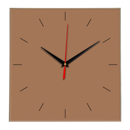 Настенные часы Ideal 852 коричневый светлый