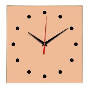 Настенные часы Ideal 853 оранжевый светлый