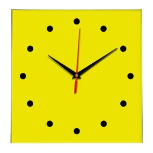 Настенные часы Ideal 853 желтые
