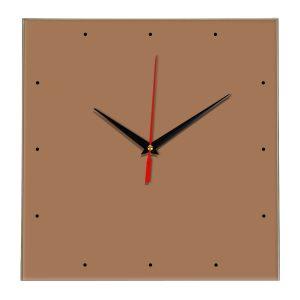 Настенные часы Ideal 854 коричневый светлый