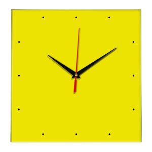 Настенные часы Ideal 854 желтые