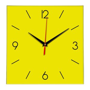 Настенные часы Ideal 856 желтые