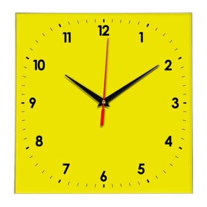 Настенные часы Ideal 857 желтые