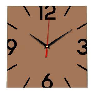 Настенные часы Ideal 858 коричневый светлый