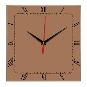 Настенные часы Ideal 866 коричневый светлый