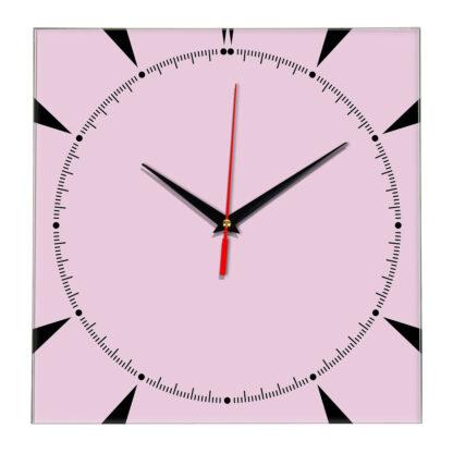 Настенные часы Ideal 867 розовые светлый