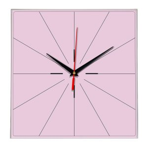 Настенные часы Ideal 869 розовые светлый
