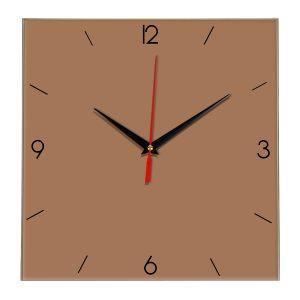 Настенные часы Ideal 870 коричневый светлый