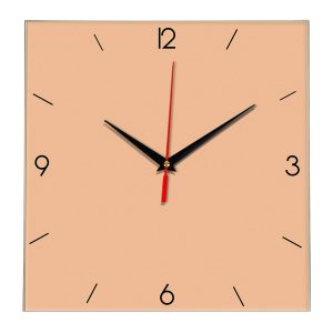 Настенные часы Ideal 870 оранжевый светлый
