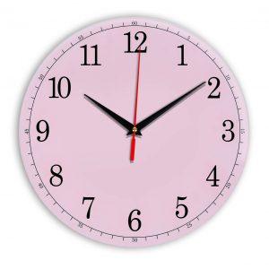 Настенные часы Ideal 901 розовые светлый