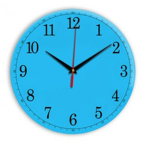 Настенные часы Ideal 901 синий светлый
