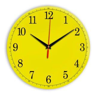 Настенные часы Ideal 901 желтые
