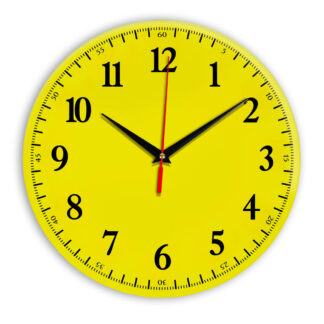 Настенные часы Ideal 902 желтые