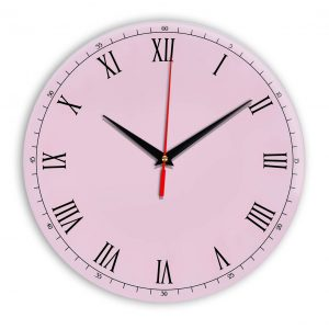 Настенные часы Ideal 903 розовые светлый