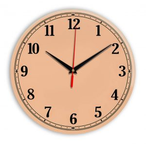 Настенные часы Ideal 904 оранжевый светлый