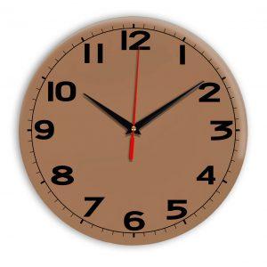 Настенные часы Ideal 905 коричневый светлый