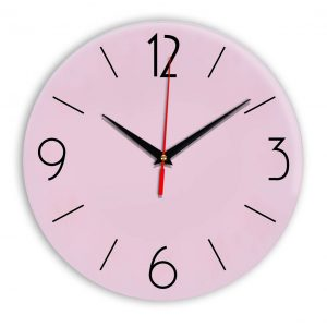 Настенные часы Ideal 906 розовые светлый