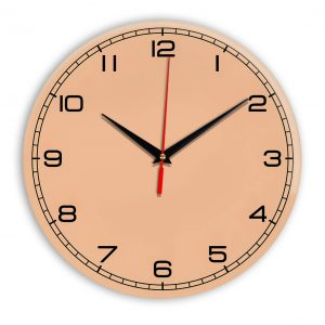 Настенные часы Ideal 909 оранжевый светлый