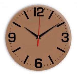 Настенные часы Ideal 914 коричневый светлый