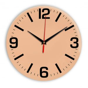 Настенные часы Ideal 914 оранжевый светлый