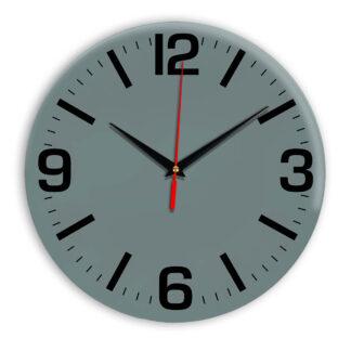 Настенные часы Ideal 914 серо синий