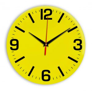 Настенные часы Ideal 914 желтые