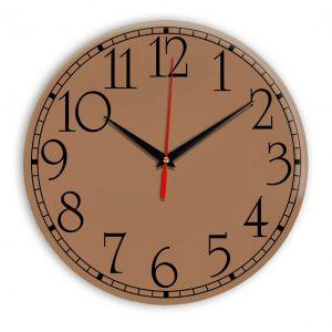 Настенные часы Ideal 915 коричневый светлый