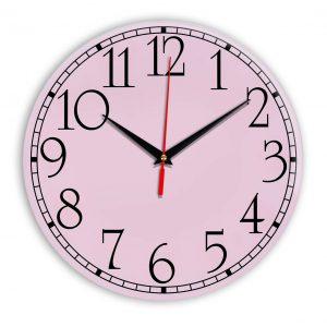 Настенные часы Ideal 915 розовые светлый