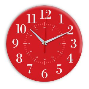 Настенные часы Ideal 917 красный