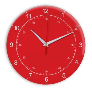 Настенные часы Ideal 918 красный