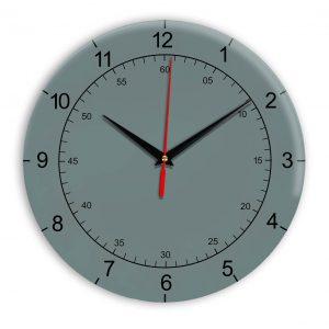 Настенные часы Ideal 918 серо синий