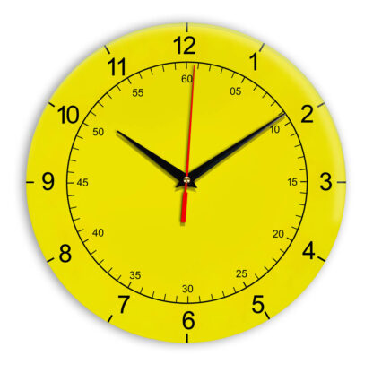 Настенные часы Ideal 918 желтые