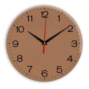 Настенные часы Ideal 919 коричневый светлый
