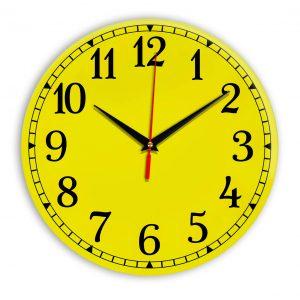 Настенные часы Ideal 920 желтые