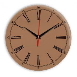 Настенные часы Ideal 921 коричневый светлый