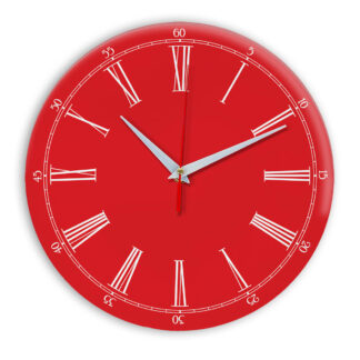 Настенные часы Ideal 921 красный