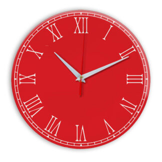 Настенные часы Ideal 924 красный