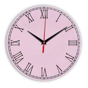 Настенные часы Ideal 924 розовые светлый
