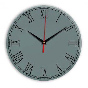 Настенные часы Ideal 924 серо синий