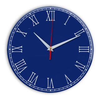 Настенные часы Ideal 924 синий темный
