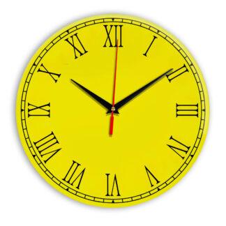 Настенные часы Ideal 924 желтые