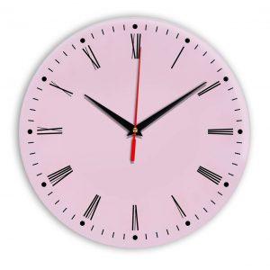 Настенные часы Ideal 925 розовые светлый