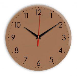 Настенные часы Ideal 927-1 коричневый светлый