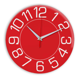 Настенные часы Ideal 930 красный